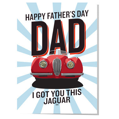Jaguar Father's day card