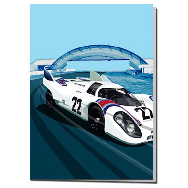 Le Mans 24 Hour Porsche card