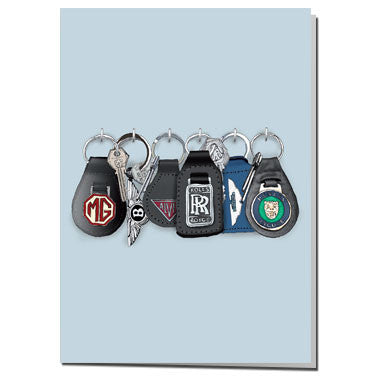 Classic car keys card