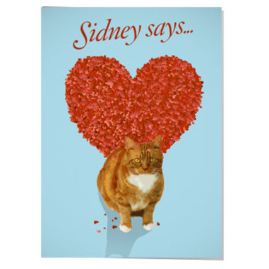 Sidney says... Valentine card