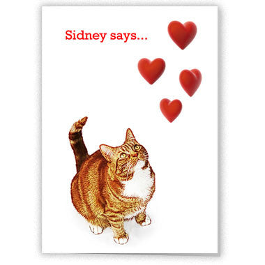 Sidney says... be my valentine
