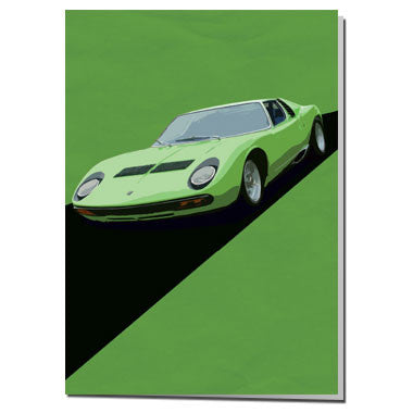 Green Lamborghini card