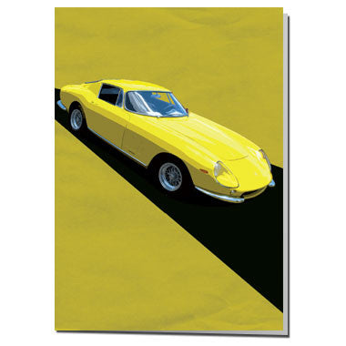 Ferrari GTO card Yellow