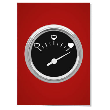 Heart Gauge Valentine card