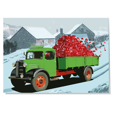 A truck load of hearts Valentine card