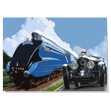 Bentley & Mallard train card