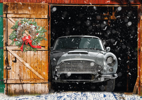 Aston Martin DB5 Christmas card