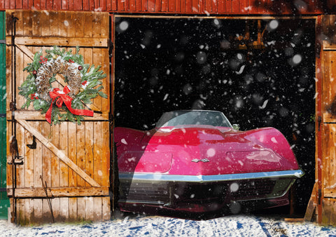 Chevrolet Corvette Stingray Barn Find Christmas card