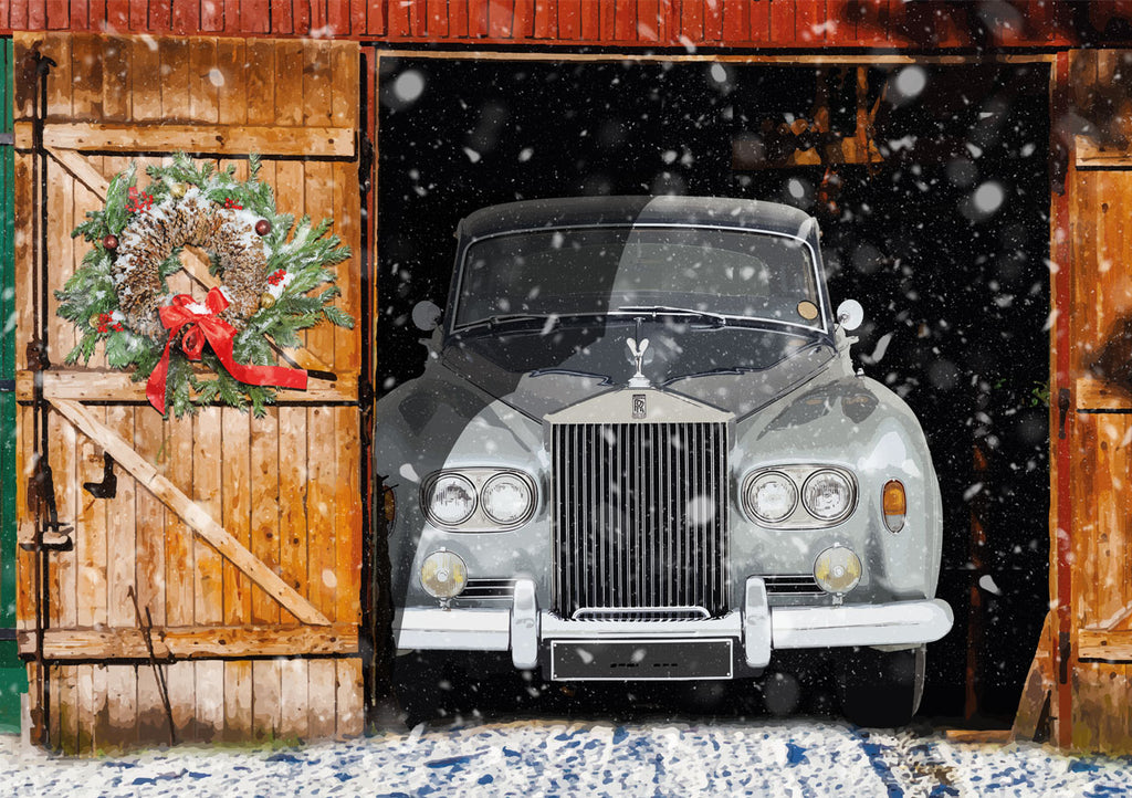 Rolls Royce SIlver Cloud Christmas card