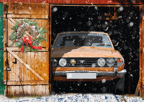 Triumph Stag Christmas card