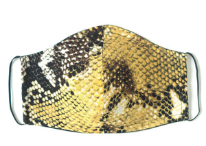 SNAKE PRINT FACE MASK - (Yellow)
