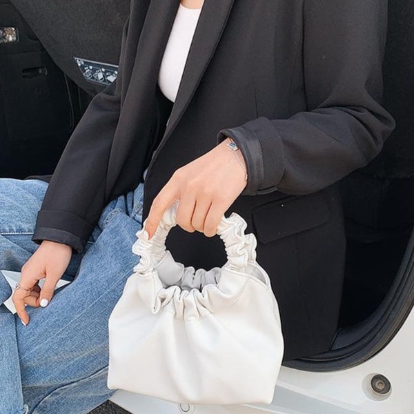 ROUND HANDLE TOTE BAG - 4 COLORS