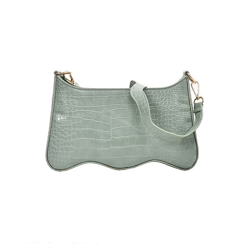 ALIGATOR SHOULDER BAG - 4 COLORS