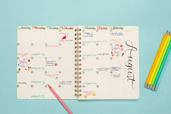 Open Dated Planner -  Assorted Colors