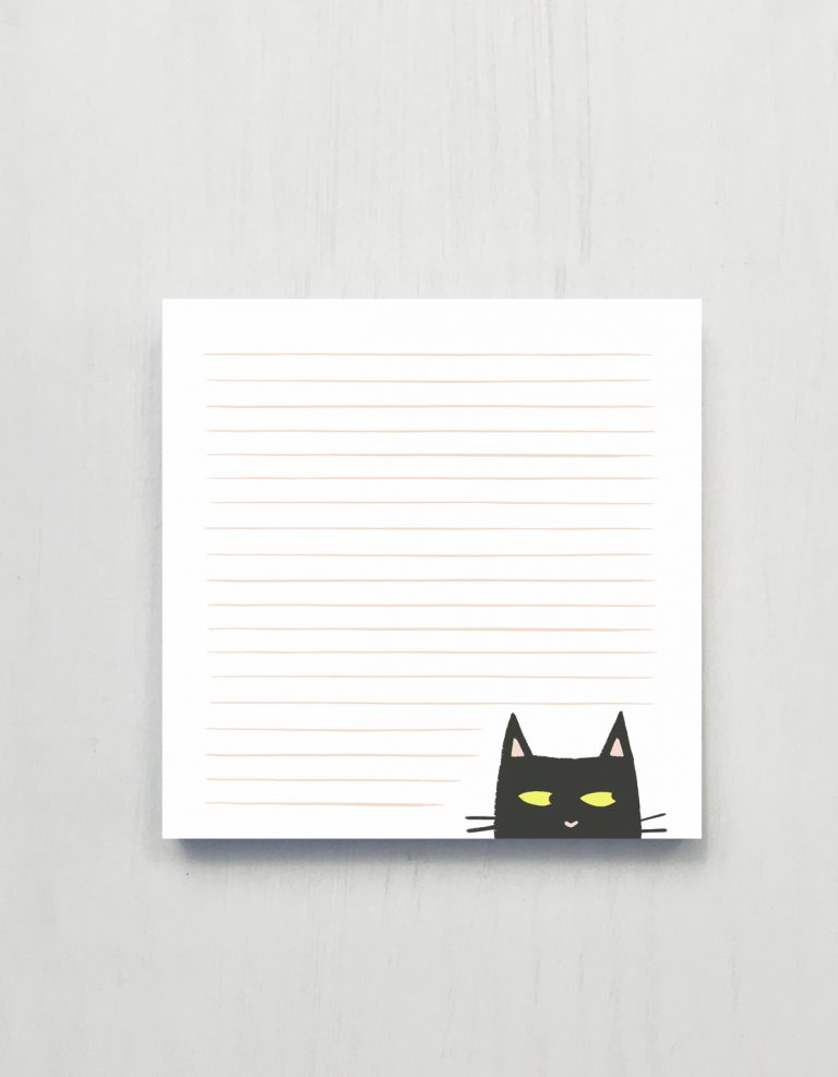 Shifty Cat Jumbo Notepad