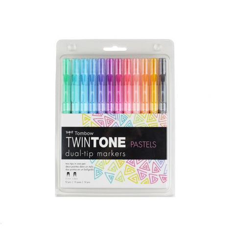 Tombow TwinTone Dual-Tip Pastel