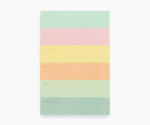 Colorblock Notepad - Weekly