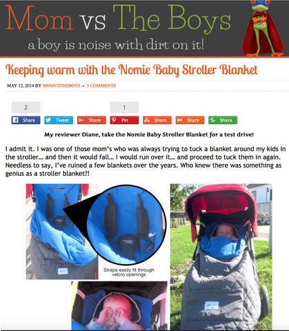 Mom vs Boys Reviews Nomie Baby Stroller Blanket Footmuff