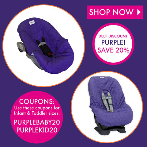 Save An Additional 20% on Purple Car Seat Covers!