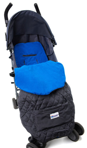 Blue Toddler Cozy Footmuff Stroller Blanket