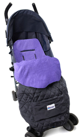 Kids Purple Fleece Lined  Footmuff Stroller Blanket for Cozy Travel for Nomie Baby