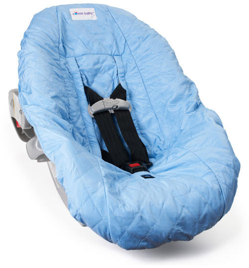 Light Blue Car Seat Cover For Infants And Babies Nomie Baby