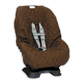 Brown & Blue Toddler Car Seat Cover for Kids