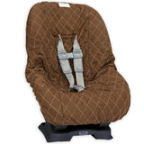 Brown & Pink Toddler Car Seat Cover for Kids