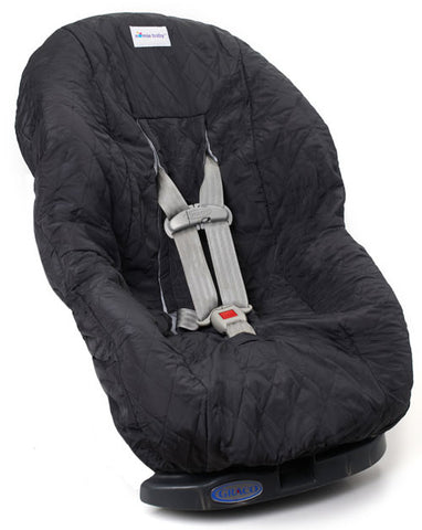 Charcoal Gray Toddler Car Seat Cover for Kids
