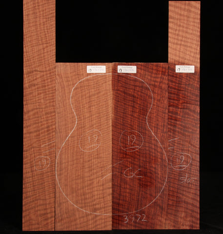 Curly Bubinga guitar set 19
