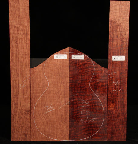 Curly Bubinga guitar set 36