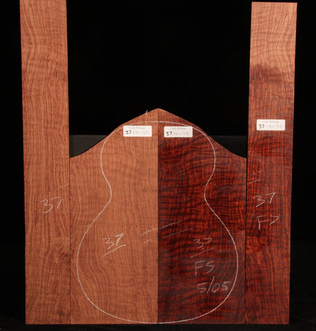 Curly Bubinga guitar set 37