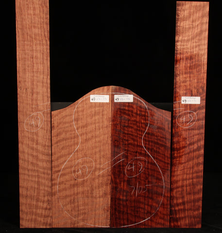 Curly Bubinga guitar set 49