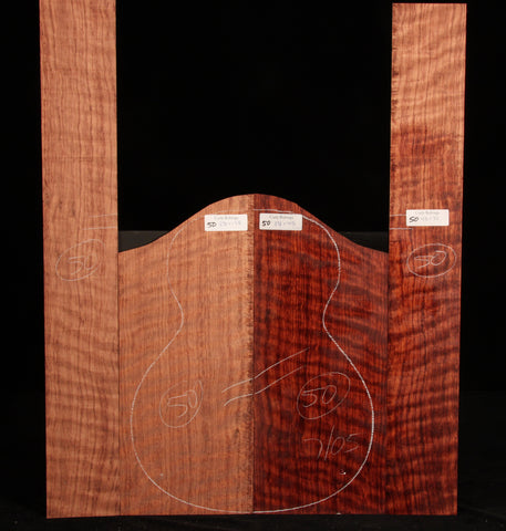 Curly Bubinga guitar set 50