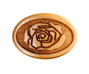 Button Rose Boxwd Gotoh