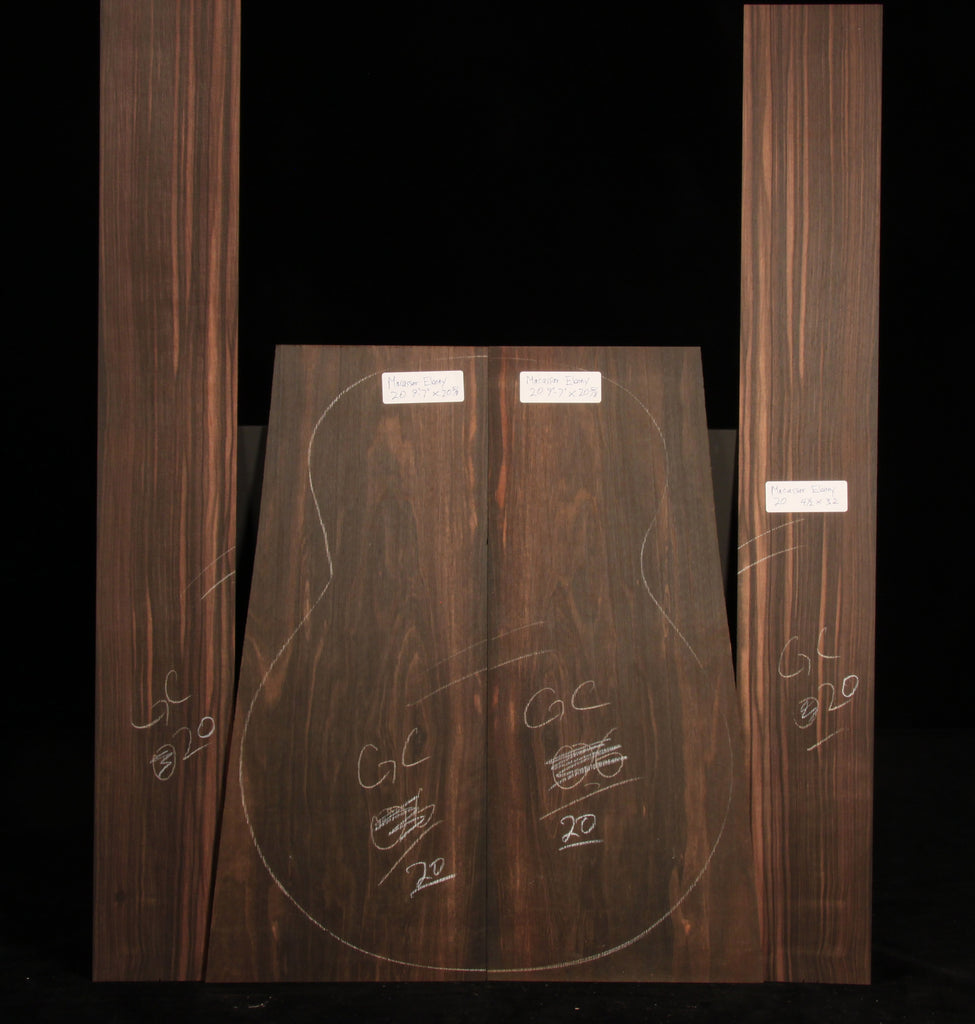 Macassar Ebony Guitar Set 20