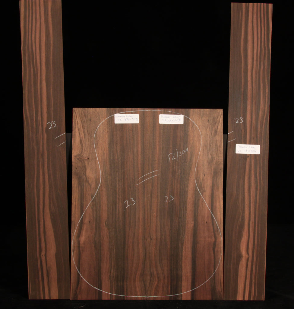 Macassar Ebony Guitar Set 23