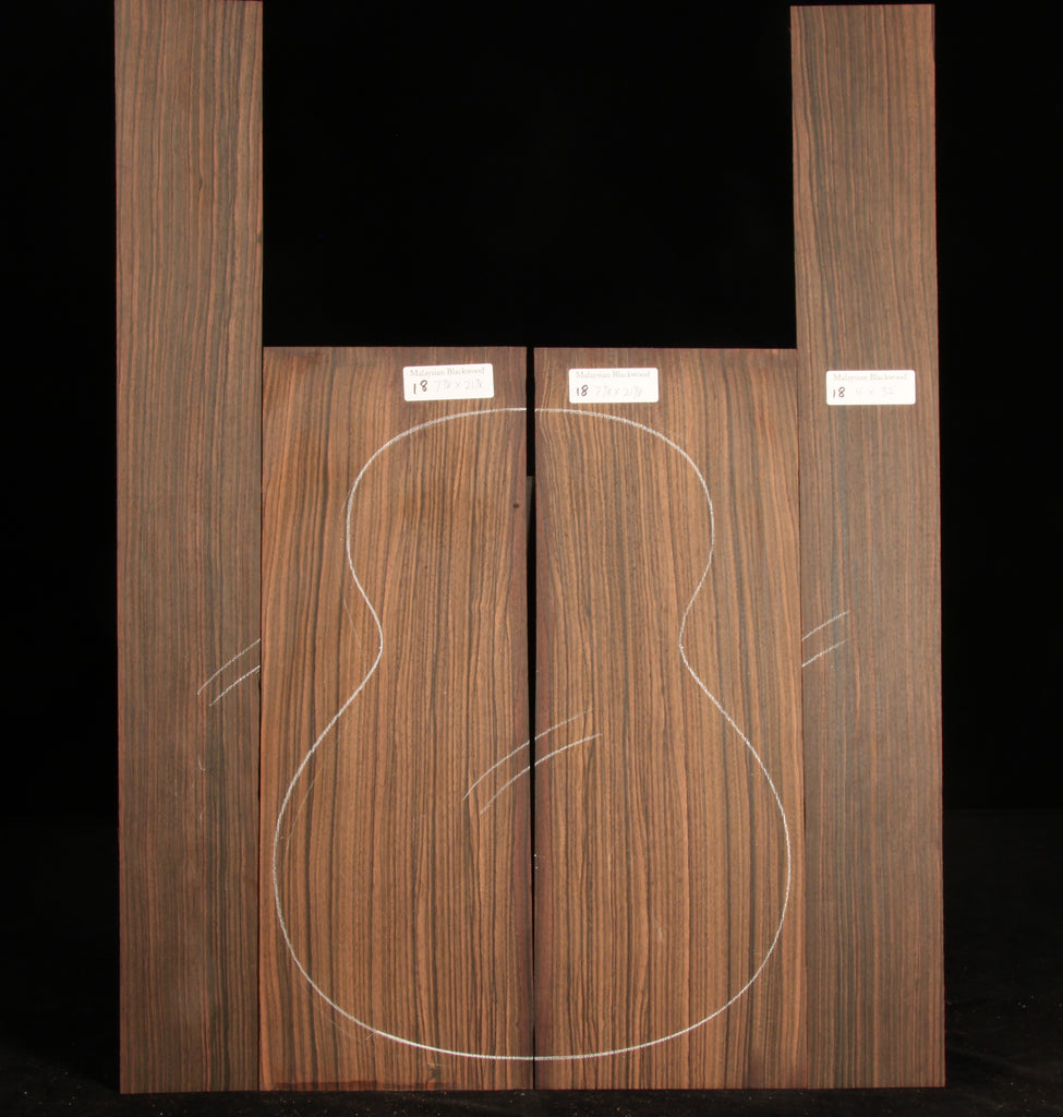 Malaysian Blackwood Guitar Set 18