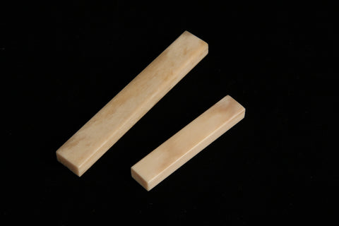 Bone Guitar nuts - Unbleached Buffalo Bone
