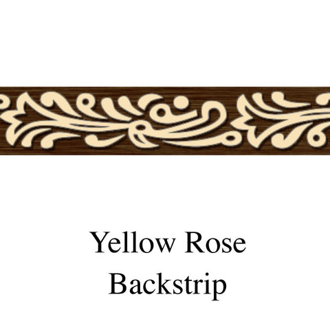 Back Strip Yellow Rose