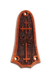 Tay 3 hole Cross & Crown, Solid Koa