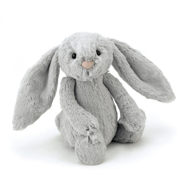 Small silver grey bunny soft toy