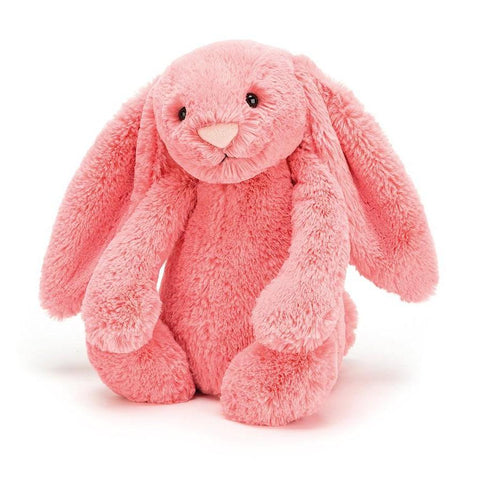 Coral Bashful Bunny soft toy by Jellycat