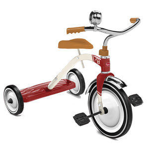Baghera retro 3 wheel pedal tricycle with rear foot plate