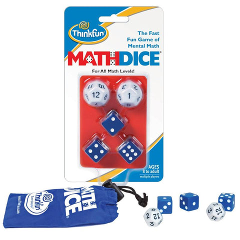 Math Dice game by Thinkfun for ages 8+