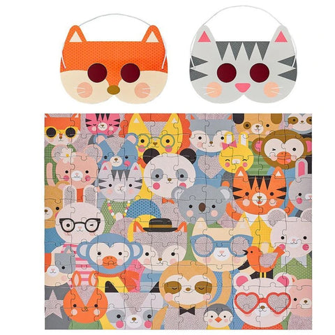 Animal part decoder puzzle with maaagic decoder glasses