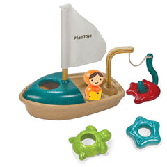 Plan Toys Wooden Fishing Boat Bath Toy