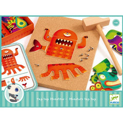 Monster tap hammer game by Djeco - great for fine motor development.