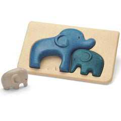 Plan toys wooden elephant tray puzzle for early learners