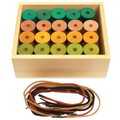 Cotton Threading Reels Set - for developing fine motor skills